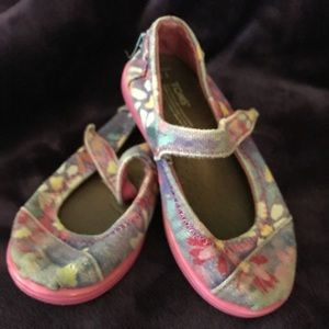 Floral Tiny Toms Mary Janes